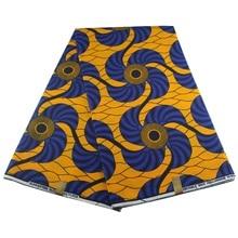 Африканский Воск красочный Анкара ткань материал хлопок 6 ярдов для одежды шитья
