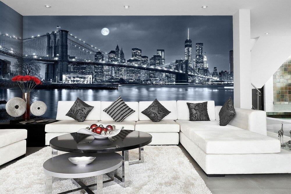 [Self-Adhesive] 3D Brooklyn Bridge New York 084 Wall Paper Mural Wall Print Decal Wall Murals