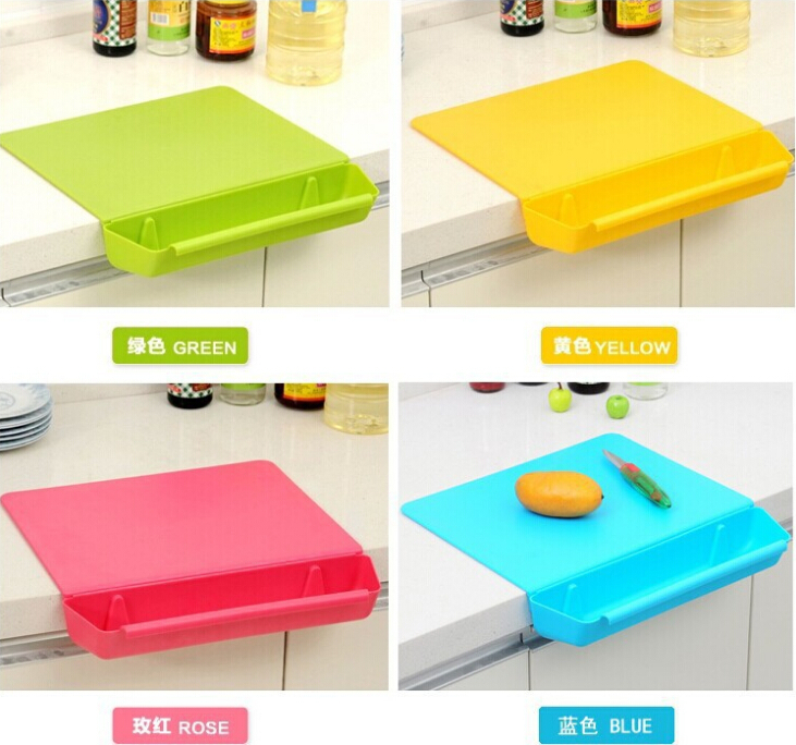 Grooved cutting board candy color chopping board panel plastic cutting board thickening antibiotic chopping block