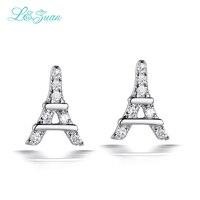 Romantic Eiffel Tower Natural Gemstone Stud Earrings
