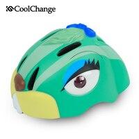 CoolChange Child Cycling Helmet PC + EPS Rabbit Cartoon Bicycle Children Helmets MTB Skating Safety Bike Helmet For Boys Girls