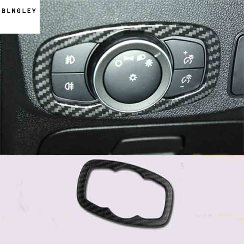 Image 3 - Free shipping 1lot ABS carbon fiber grain Interior decoration cover for 2019 Ford FOCUS 4 MK4 car accessories-in Car Stickers from Automobiles & Motorcycles