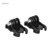 2pcs Go pro Quick Release Tripod Mount Buckle Basic Base For 7 6 5 4 3 SJ7 SJ8 H9R Pro OSMO Action Accessories