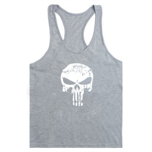 Skull Printing Bodybuilding Stringer Tank Tops men Gyms Shirt Fitness Top Men Clothing Cotton Vest Shipping