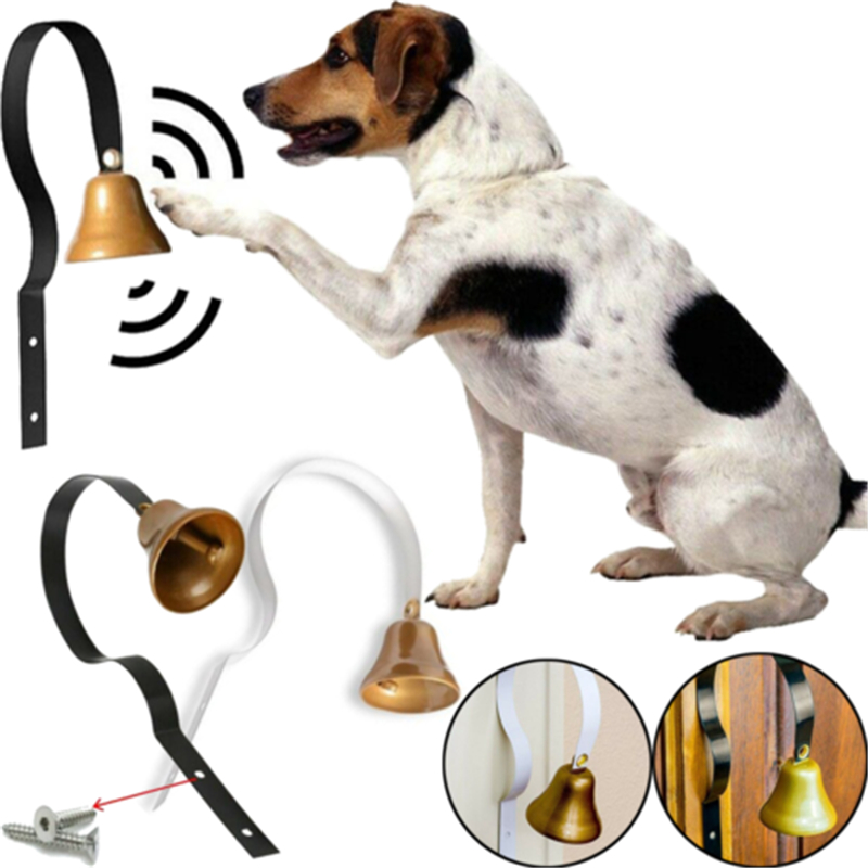 High Quality Dog Metal Chink Bell House Breaking Potty Training Pet Doorbell Hot New Pet Dog Trainings Dog Drill Doorbell-2