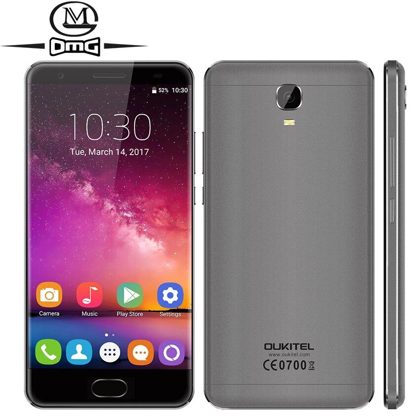 Oukitel K6000 más MTK6750T octa Core Android 7.0 4 GB RAM smartphone 4G LTE 5.5 1920*1080 P 64 GB ROM 6080 mAh 16MP teléfono móvil