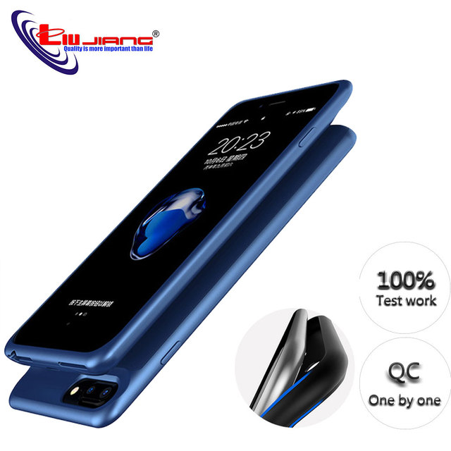 Pin Sạc dành cho iPhone 6 6 S 7 8 Plus 5000/7000 mAh Power Bank Case Siêu Mỏng Bên Ngoài Gói ốp lưng kiêm sạc dự phòng bao