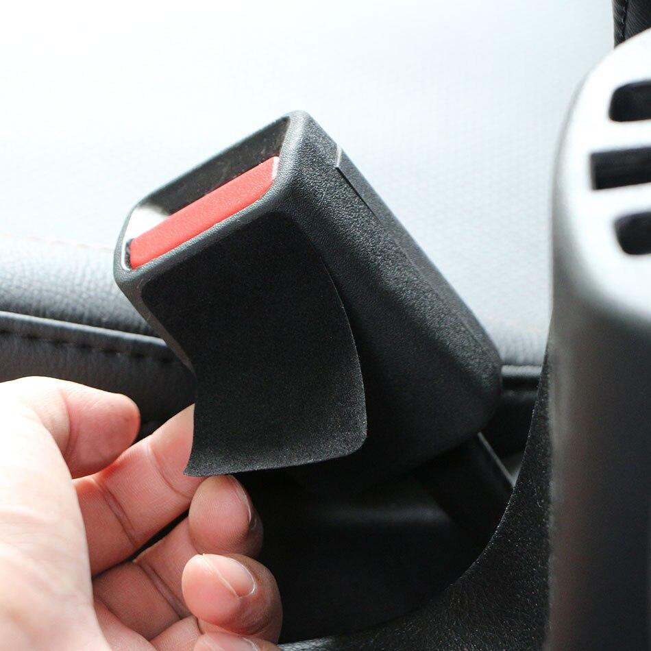 Carmilla 2 шт./компл. черный авто ремень безопасности с пряжкой Анти-столкновения Стикеры подушечки против Шум довольно закрепляющий зажим прот...