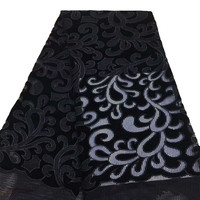 5yards High quality African lace fabric French lace fabric Nigerian Net lace fabric for dress X718 2