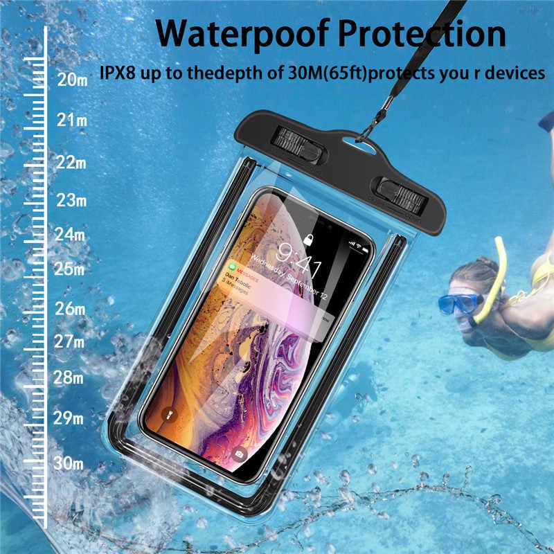 USLION evrensel su geçirmez iphone için kılıf 11 Pro Max XS MAX X XR 8 7 6 artı kapak kılıf çanta kılıfları Samsung huawei Xiaomi