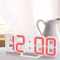 Tamanho grande digital led relógio de parede única decoração da casa do vintage temporizador relógio despertador transporte da gota