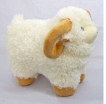 middle lovely plush sheep toy the Simulation dolly sheep doll beige sheep doll with yellow claws gift about 35cm