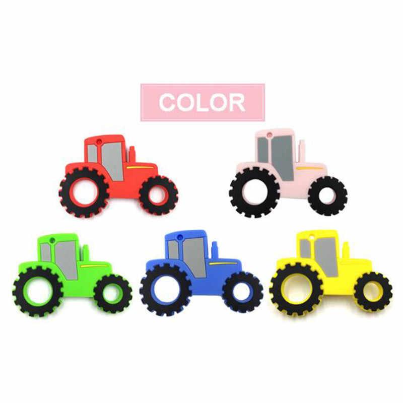 الطفل سيليكون عضاضة التسنين لعبة الخرز ألواح رسومات للسيارات يمكنك تركيبها بنفسك على شكل مضغ قلادة التمريض أداة قلادة الغذاء الصف سيليكون BPA الحرة