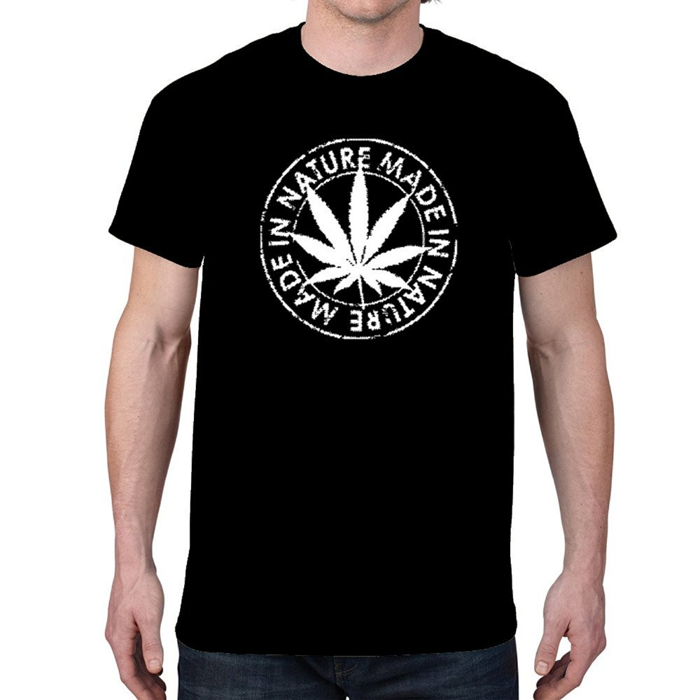 Best quality black t shirt - 2017 The Flash Print Cotton Fashion Made In Nature Pot Leaf Black T Shirts 100 Cotton Hip Hop Streetwear Tees High Quality