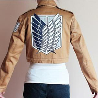 Anime Attack On Titan Scouting Legion Coat Jacket Uniform Suit Clothes Cosplay Costume With Badge High