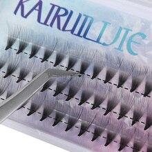 Cílios postiços volume pré montado 10d 20d, cílios postiços curvados ou sem nó, extensão individual, natural, longos, semi e permanente
