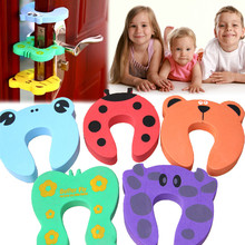 5pcs Kids Cartoon Door Stoper Child Safety Guard Finger Protect Baby Animal Jammers Infant Baby Helper Safety Protector Doorway