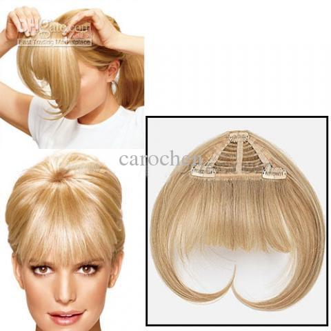 8A European Platinum Blonde Human Hair Bangs Piece Clip In Fringe Extensions From Wigs On Aliexpress