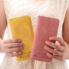 Women Wallets Fashion Leather Hasp Female Long Wall