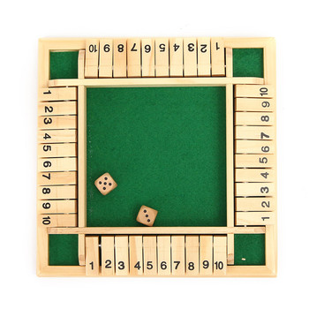 Family Game Funny Board Game Child Kids Gift Entertainment Traditional Shut the Box Game Wooden Board Number Drinking Dice Toy
