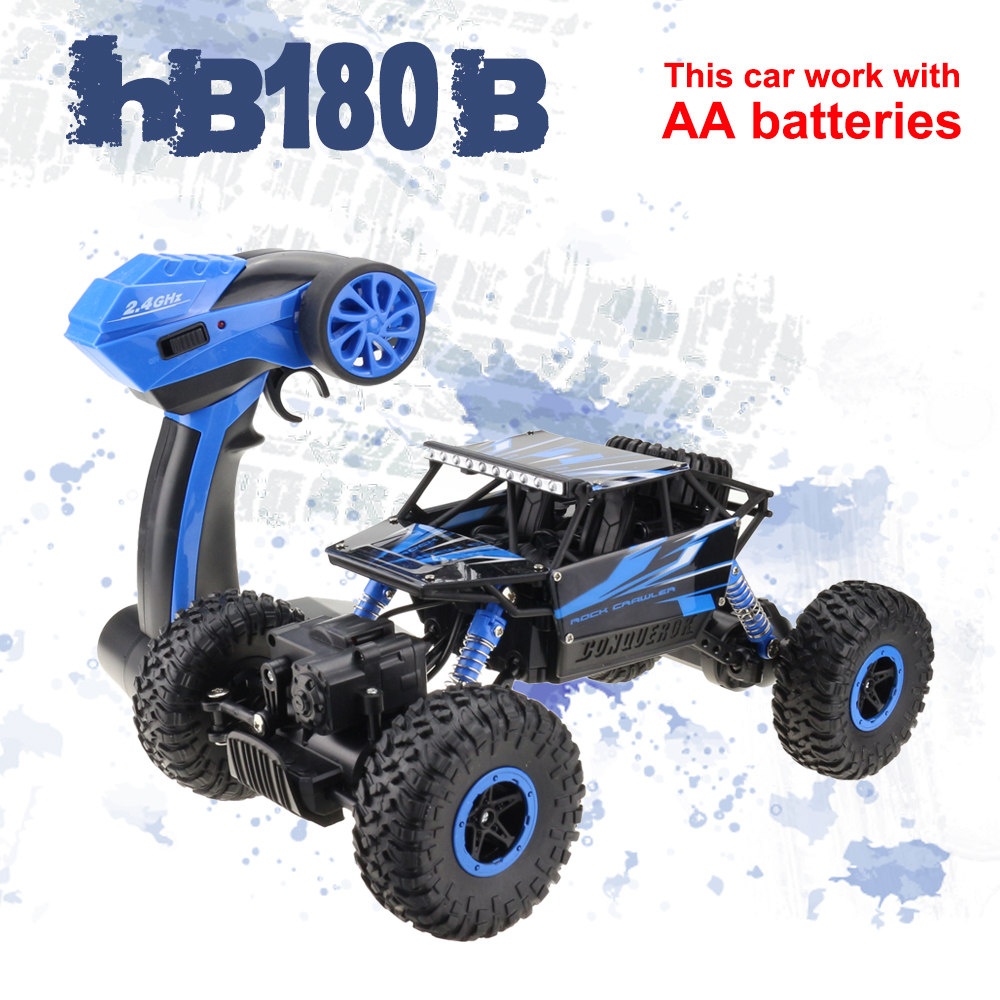 Lynrc RC Car 4WD Rock Crawlers HB180B 4x4 Bigfoot Double Motors Off-Road vehicle use AA battery