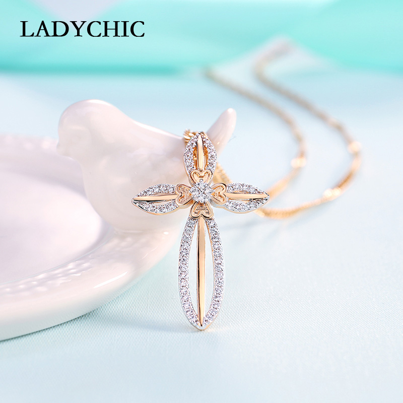 LADYCHIC Elegance Gold Color Necklaces For Women Trendy