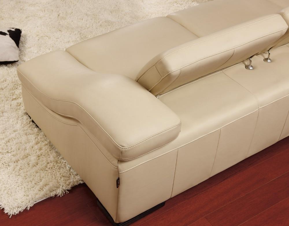 ko ægte læder sofa stue hjemmemøbler sofa sofaer stue sofa sektion - Møbel - Foto 2