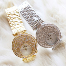 New Hot-Selling Watch High-End  Chain Watch Full Rhinestone Female Watch Fashion Custom Made Watch все цены