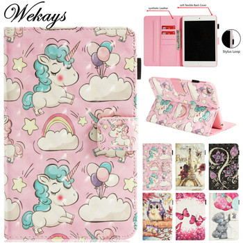 Wekays For Coque IPad Mini 1 Mini 2 Min 3 Cartoon Unicorn 3D Leather Fundas Case For IPad Mini1 Mini2 Mini3 Cover Cases For Kids wekays for apple ipad mini 4 cute cartoon unicorn leather fundas case sfor coque ipad mini 4 tablet cover cases for ipad mini4