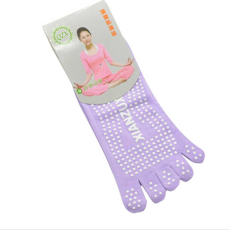 Frauen Yoga Zehen Socken Gym Dance Sport Übung Fünf Finger Socken Rutschfeste Massage Fitness Dots Warm