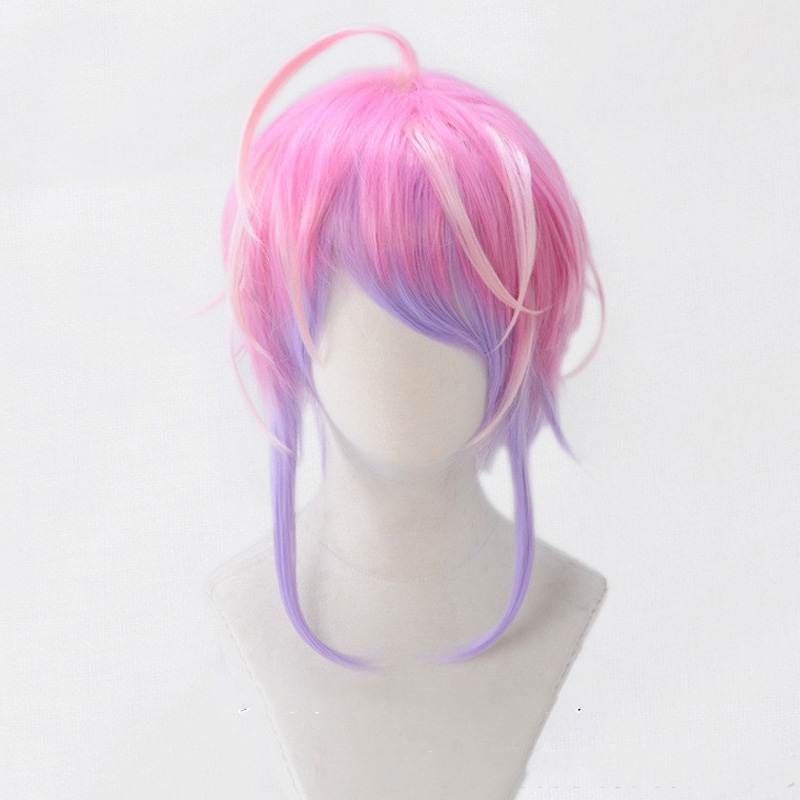 High Quality Division Rap Battle Hypnosis MIC Amemura Ramuda Wig Heat Resistant Synthetic Hair Cosplay Costume Wigs + Wig Cap