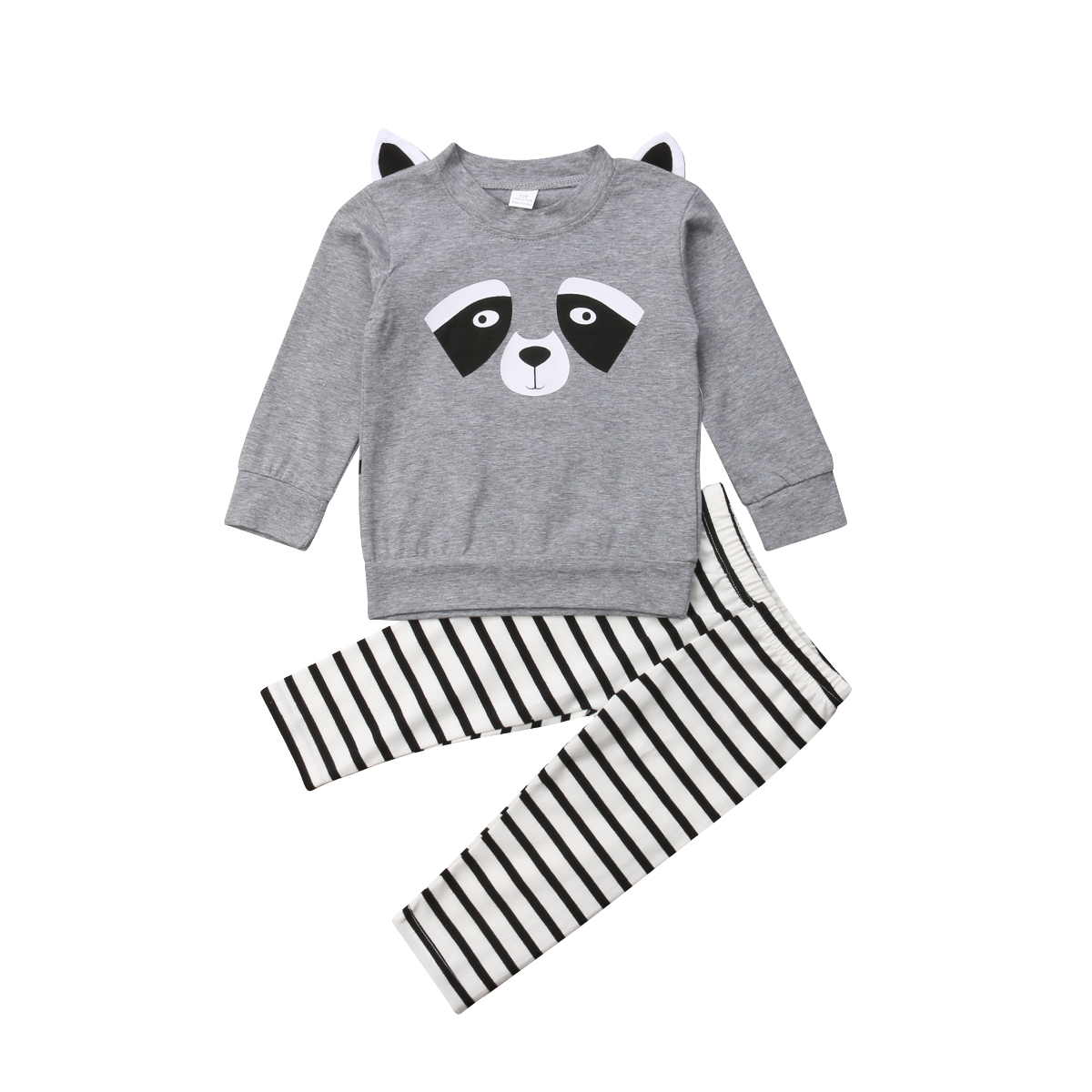 Boy T-shirt Pants Set Cute Animals Long Sleeve Toddler Autumn Clothes Tracksuit 2PCS Kids Baby Girls Outfits Clothing 1-5T spring autumn fashion children clothes full sleeve t shirt and pants 2pcs handsome gentleman suit boy clothing set kid tracksuit