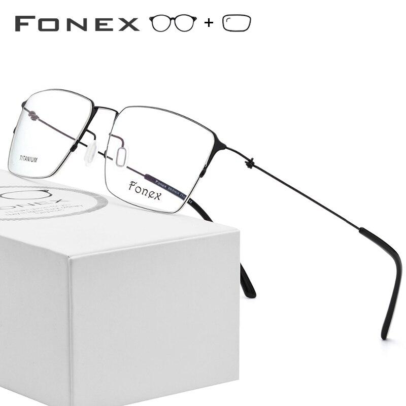 Alliage de titane lunettes de Prescription hommes Semi sans monture myopie cadre optique femmes coréen sans vis lunettes Prescription lunettes