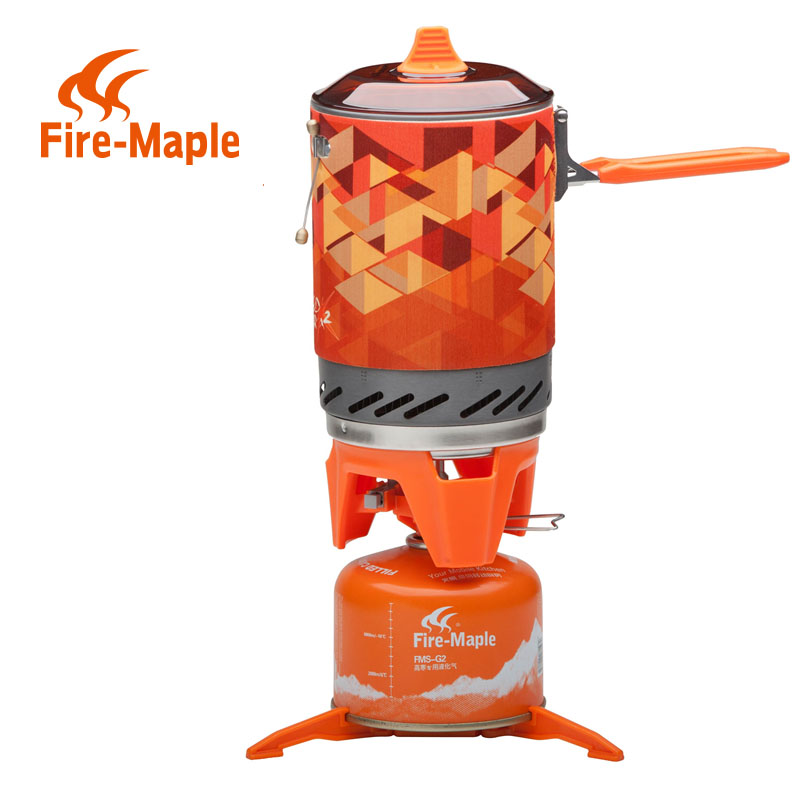 Fire Maple X2 Portable Gas Stove Burner 1L 600g FMS-X2 Hand-held Personal Cooking System Outdoor Hiking Camping Equipment Oven apg 1100ml camping gas stove fires cooking system and portable gas burners