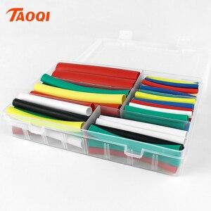 102 sztuk/zestaw 3:1 stosunek rurka termokurczliwa różne rurki termokurczliwe izolacja elektroniczna Heatshrink Wrap rękaw kablowy termokurczliwy zestaw przewodów