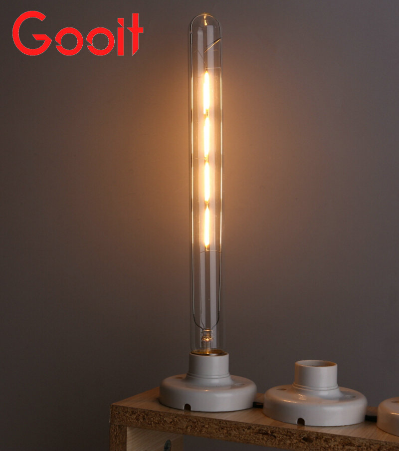 LED Filament Retro Edison Bulbs 220V T300 E27 4W Warm White 400LM COB led Edison lamps 5pcs e27 led bulb 2w 4w 6w vintage cold white warm white edison lamp g45 led filament decorative bulb ac 220v 240v