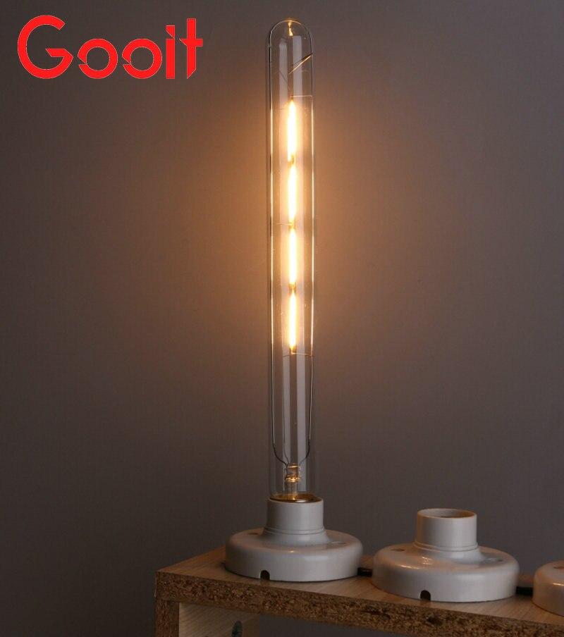 LED Filament Retro Edison Bulbs 220V T300 E27 4W Warm White 400LM COB led Edison lamps led filament retro edison bulbs 220v t300 e27 4w warm white 400lm cob led edison lamps