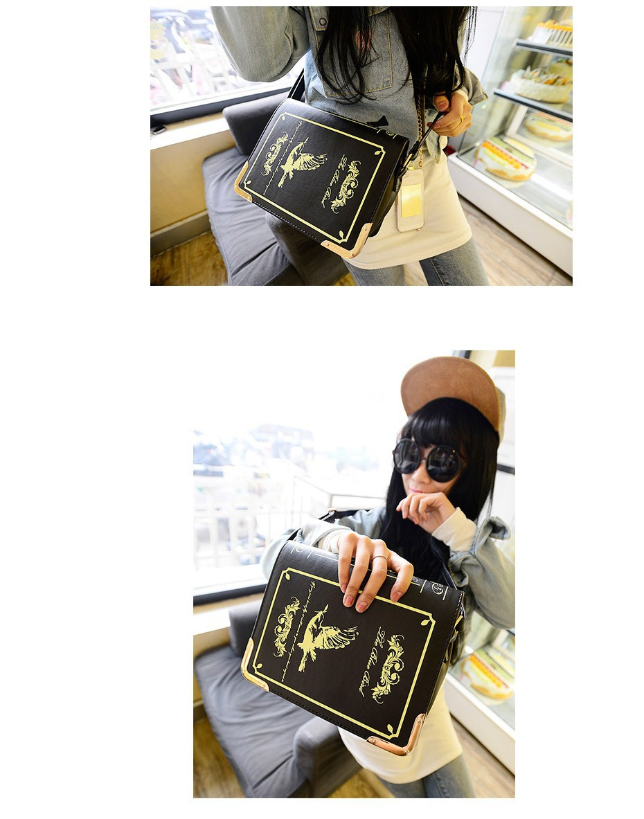 b44da7ffe0 2019 Book shaped lolita bag ladies gothic bag women messenger bags ...