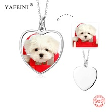 925 Sterling Silver Customized Name and Photo Necklace Personalized Heart Pendant Fashion Accessories