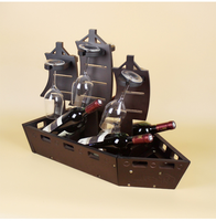 1 PCS goblet holder red wine holder solid wood red wine holder creative wine holder (Without bottles and cups) LU717119