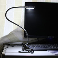 Free Shipping Free Shipping Full Metal Lengthened Super Bright LED Desk Lamp Large Clip To Learn