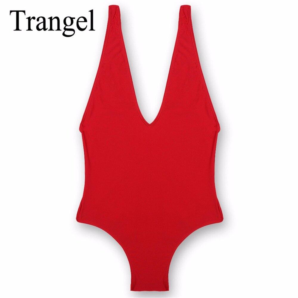 Trangel high cut one piece swimsuit women swimwear 2017 sexy backless bathing suit one-piece women's swimsuits beachwear BF001 fashionable strappy printed cut out one piece swimsuit for women