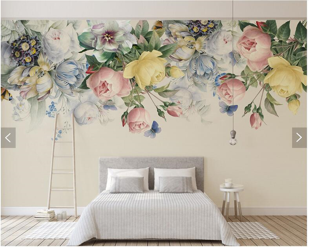 Custom 3D wallpaper flower, rose oil painting murals for living room bedroom sofa TV backdrop wall decorative wallpaper [sa] new original authentic special sales moeller thermistor relay emt6 k spot page 1
