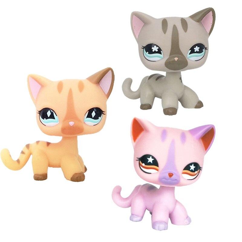 D'origine pet shop jouets Lot Cheveux Courts Chat #886 #933 #468 Kitty Ensemble Rare figurines animaux Livraison Gratuite