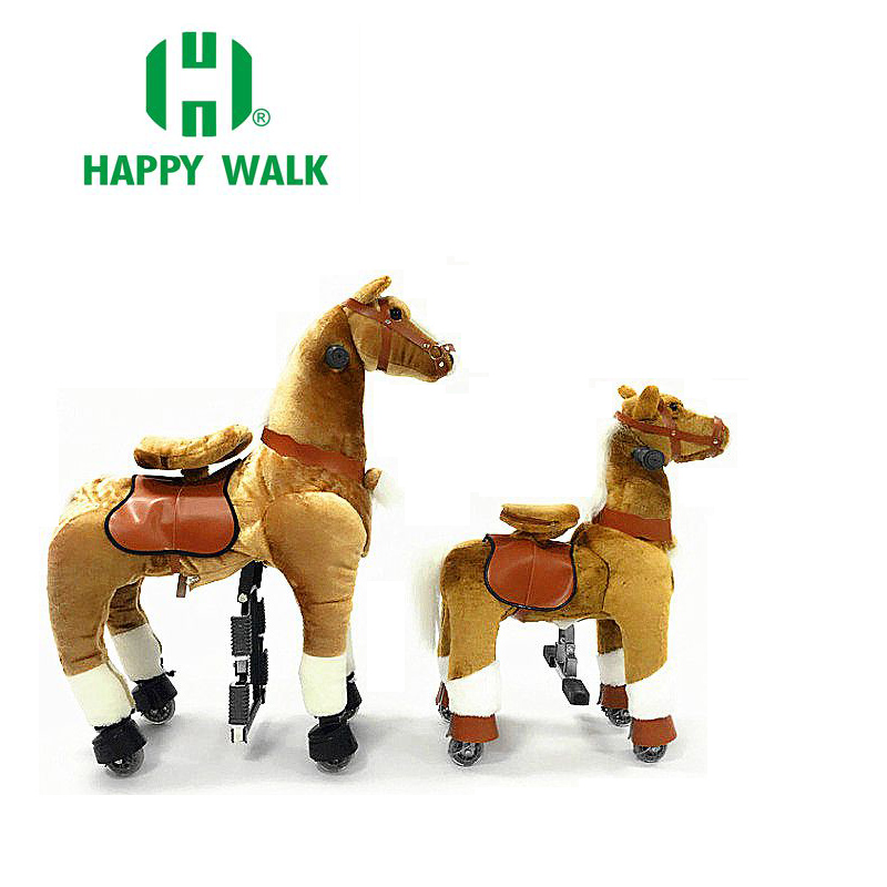 HI CE M Size Riding Pony Horse Walking Ride on Horse Outside Mechanical Ride on Horse for Kids / Adult / Youth Children Gifts