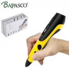 3D Doodle Pen Original BAPASCO 06B Low Temperature 3D Pen Add 12 Color PCL Filament LED Screen 3D Magic Pen For Kids Paint Tools