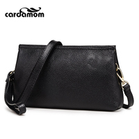 Cardamom Genuine Leather Women Package Fashion Clutches Bag Day Clutch Bags Small Shoulder Organizer Purse Ladies