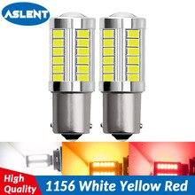 ASLENT 2pcs 1156 7506 BA15S P21W 5630 5730 LED Car Tail Bulb Brake Lights 12V Auto Reverse Lamp Daytime Running Signal Light цена и фото