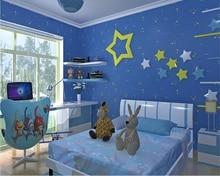 beibehang Cartoon environment luminous nonwovens wallpaper children room star boy girl bedroom background papel de parede tapety