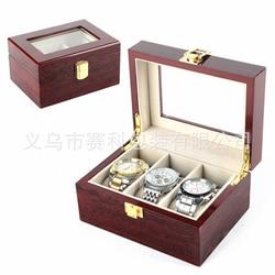 Wysokiej jakości drewniany stół box 3 rowkowane pudełko do zegarków na przenośne torby do przechowywania podróży